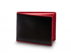 Bosca Credit Wallet w/I.D. Passcase 195-271 271 Black/Red
