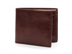 Bosca Euro Credit Wallet w/I.D. Passcase 196-218 218 Dark Brown