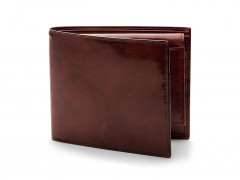 Bosca Euro Credit Wallet w/ ID Passcase 196-58 58 Dark Brown