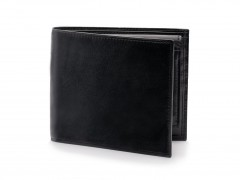 Bosca Euro Credit Wallet w/ ID Passcase 196-59 59 Black