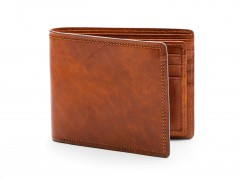 Bosca Euro 8 Pocket Deluxe Executive Wallet w/ Passcase 198-217 217 Amber