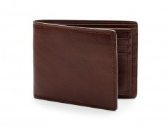 Bosca Euro 8 Pocket Deluxe Executive Wallet w/ Passcase 198-218 218 Dark Brown