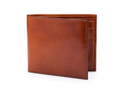 Bosca Euro 8 Pocket Deluxe Executive Wallet w/ Passcase 198-27 27 Amber