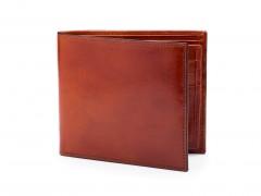 Bosca Euro 8 Pocket Deluxe Executive Wallet w/ Passcase 198-32 32 Cognac