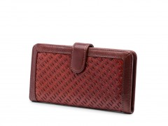 Bosca Basket Style Slim Credit Case 2030-214 214 Dark Auburn