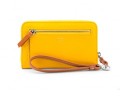 Jewel Tone Zip Wallet-185 Citrine