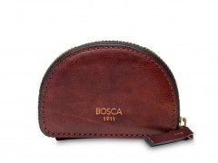 Bosca Coin Purse / Key Fob 292-218 218 Dark Brown