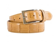 Alligator Belt-173 Mustard-34