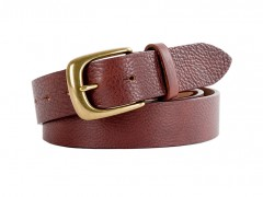Old Leather Washed Belt-658 Dark Brown-34
