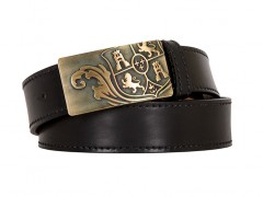 Bosca Crest Belt Buckle-200 Black-34
