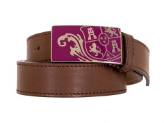 Bosca Crest Belt Buckle-206 Brown-34