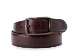 Bosca The Onde Reversible Belt 34634-346 346 Dark Brown/Tan