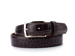 Bosca The Gianni Belt 35034-288 288 Cream/Dark Brown