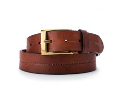 Bosca The Olde Towne Belt 35434-158 158 Dark Brown