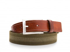 Bosca Stanford Belt 36534-363 363 Dark Brown/Olive
