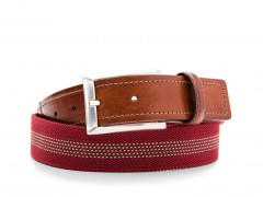 Bosca Stanford Belt 36534-364 364 Brown/Burgundy