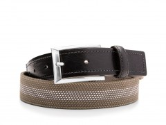 Bosca Stanford Belt 36534-365 365 Black/Grey