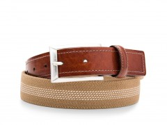 Bosca Stanford Belt 36534-366 366 Dark Brown/Tan