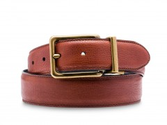 Bosca Gemini Belt 37232-258 258 Brown/Black