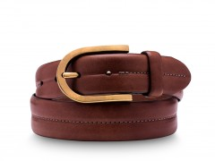 Bosca Mission Belt 37532-218 218 Dark Brown