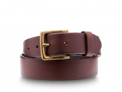 Bosca Olde Towne Belt 37632-158 158 Dark Brown