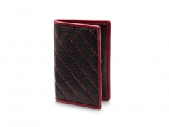 Bosca Calling Card Case 441-161 161 Black/Burgandy