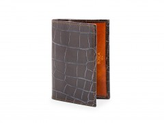 Bosca Calling Card Case 441-187 187 Brown/Amber
