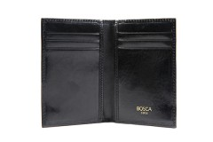 Bosca 8 Pocket Credit Card Case 443-59 59 Black 8 Pocket Credit Card Case