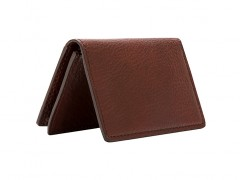 Full Gusset, 2 Pkt Card Case w/I.D.-158 Dark Brown