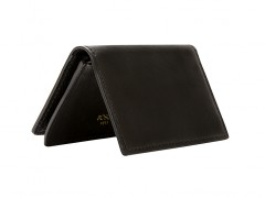 Full Gusset, 2 Pkt Card Case w/I.D.-159 Black