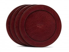Bosca Round Coasters - Set of 4 514-97 97 Brown