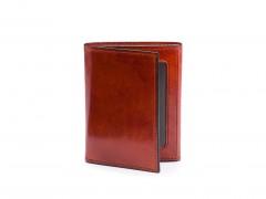 Bosca Double I.D. Trifold Wallet 53-32 32 Cognac Double I.D. Trifold - Cognac - Open Front