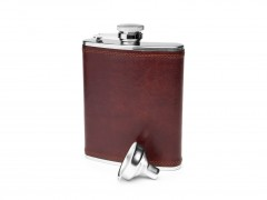 Bosca Flask - 6 oz 536-218 218 Dark Brown