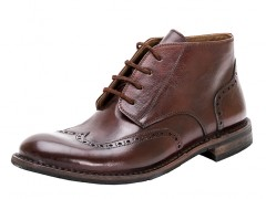 Bosca Wingtip Shoe 5500-218 218 Dark Brown