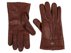 Bosca Deerskin Glove 5603-961  Deerskin Glove-961 Brown-Medium