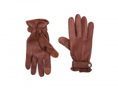 Bosca Deerskin Glove w/ Button Strap 5623-962 962 Tan