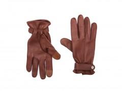 Bosca Deerskin Glove w/ Button Strap 5623-962 962 Tan