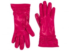 Bosca Long Lambskin Glove w/ Pleat 5652-965 965 Fuchsia