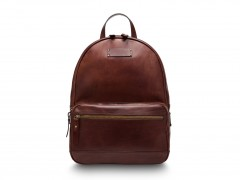 Bosca Crosby Leather Backpack 6000-218 218 Dark Brown