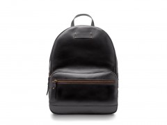 Bosca Crosby Leather Backpack 6000-219 219 Black