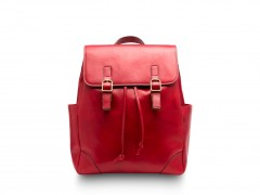 Bosca Sparrow Small Leather Backpack 6001-212 212 Red Dolce