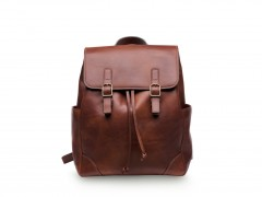 Bosca Sparrow Small Leather Backpack 6001-218 218 Dark Brown