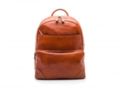 Bosca Dolce Leather Backpack 6002-217 217 Amber Front