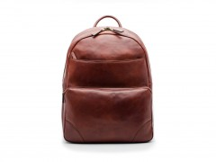 Bosca Dolce Leather Backpack 6002-218 218 Dark Brown