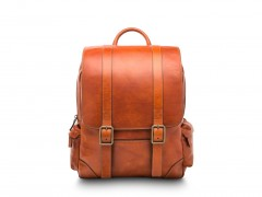 Bosca Cafe Leather Backpack 6004-217 217 Amber