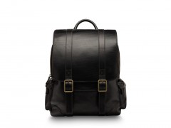 Bosca Cafe Leather Backpack 6004-219 219 Black