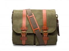 Bosca 2 Pocket Mail Bag 6011-394 394 Chestnut / Olive
