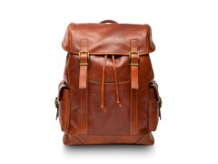 Bosca Pathfinder All Leather Backpack 6020-217 217 Amber