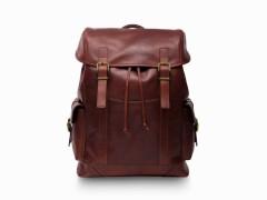 Bosca Pathfinder All Leather Backpack 6020-218 218 Dark Brown