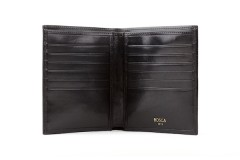 Bosca 12 Pocket Credit Wallet 607-59 59 Black 12 Pocket Credit Wallet - Black - Open View